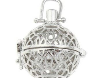 2pc 20x19mm antique silver  finish metal  prayer box pendant-6103