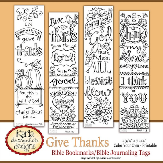 Give Thanks Color Your Own Thanksgiving Bible Journaling