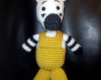 Zebra would hand-made crochet 25 cm