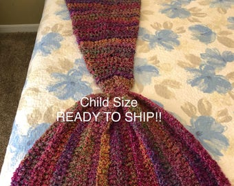 Mermaid tail blanket! Made and ready to ship!Rainbow sparkle! Child gifts, ready to ship, soarkling mermaid tail blanket