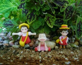 Micro Little Girl Fairy Garden Miniatures - Fairy Garden - Terrarium - Micro Decor - Succulent Garden - Bonsai - Decoration