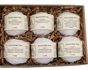 Aromatherapy Bath Fizzies - Healthy Assortment