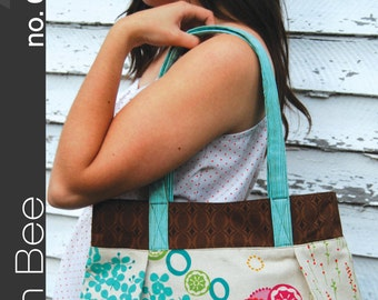 "GREEN BEE pattern no. 001 ""the vera bag"" GB001"