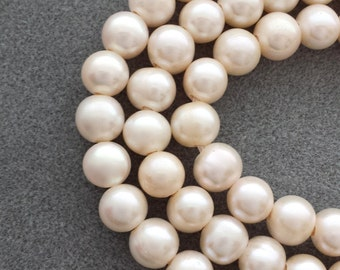 2.5mm Large Hole Pearls, AA Quality, Freshwater Pearls, High Luster, 10-11mm, Pearl Strands, Big Hole Beads, Bridal Jewelry, Pearl Beads