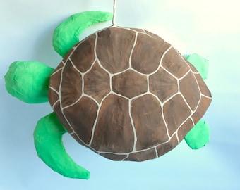 Sea Turtle Pinata Under the Sea Party Under the Sea Baby Shower 1st Birthday Party Pinata Ocean Themed Birthday Party Custom Pinata