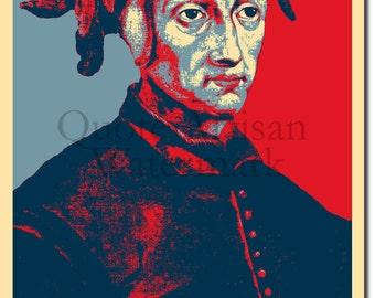 Dante Alighieri Original Art Print - Photo Poster Gift