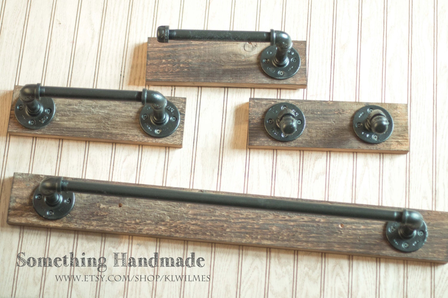 barn wood bathroom set towel bars toilet paper holders and
