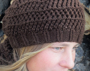 KNITTING PATTERN hat PDF, Knitting pattern slouchy hat, knit pattern hat