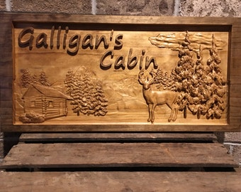 Cabin Sign, Mountains, Deer, Cabin Decor, Cabin Signs, Mountain Life, Wood Sign, Hunting Cabin, Log Cabin, Country Decor, Country Sign