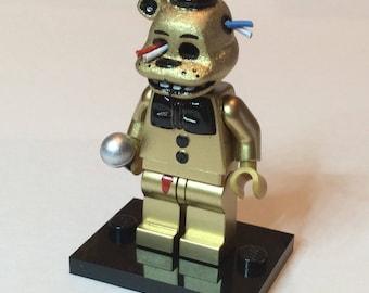 Golden Freddy Fazbear - Five Nights At Freddy's Custom Lego Minifigure Mini Fig