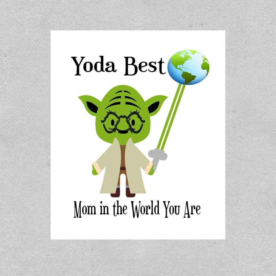 Star Wars Mom Birthday Card Geek Mom Birthday Card