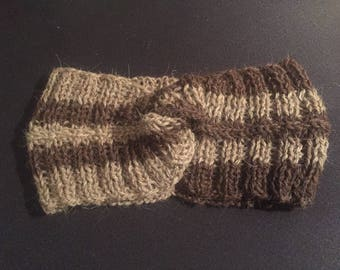 100% Wool Beige Dark Brown Gucci headband style to match Gucci socks, Gucci inspired