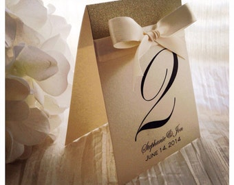 Champagne Wedding Table numbers, Ivory Table Numbers, Wedding Table number, Table signs, Cream wedding decor