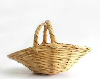 Wicker Easter Basket Made In Mexico