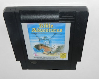 Bible Adventures Black Cart Version Nintendo NES Video Game Cart Very Rare