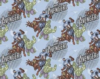 Marvel Comic Avengers Assembled Fabric