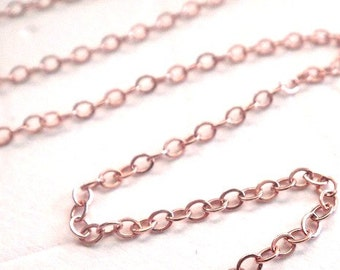 Rose gold fill chain Etsy