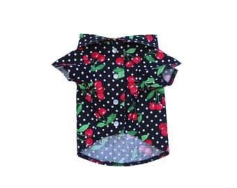 Dog Clothes The Cherry Bomb Shirt | Dog Shirt | Dog Apparel | Dog Shirts for Dogs | Pet Clothing | Cherry Print