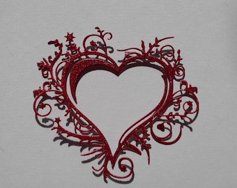 Whimsical Heart Die Cuts