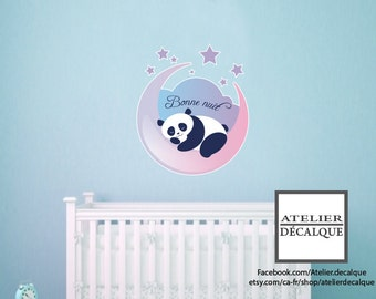 Wall Sticker no. MU-002 - Panda Good night