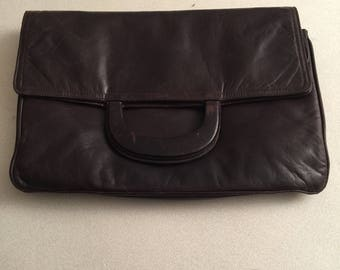 Stunning La Bagagerie brown leather handbag mint condition softest leather must have