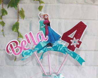 Personalized Frozen  inspired centerpiece, Frozen  table decoration, Frozen fever party,Frozen supplies . Frozen fiesta