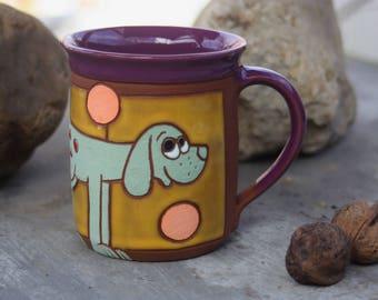 Dog Coffee Mug, Tea Mug, Dog mug, Pottery mug, Funny Dog Mug, Dog Cup, Dog Lover Mug, Coffe Funny Mug, Pottery Coffee Mug, Handmade mug, Dog