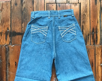 1970's Women's 24.5x32 Bell Bottom Jeans by Wrangler