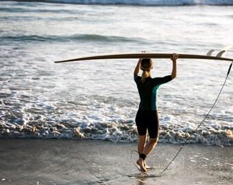 Fine Art Print, Limited Edition, Surfer, Terramar Beach, Carlsbad, CA, Color, Beach, Ocean, Lifestyle, Southern California, Coastal, Waves