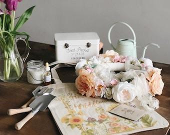 Peach flower mobile, peach floral chandelier, pink crib mobile, baby girl mobile, floral mobile, floral nursery decor, peach nursery mobile