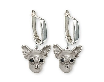 Chihuahua Earrings Jewelry Sterling Silver Chihuahua Charms And Jewelry CHC-E