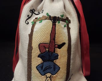 The Hanged Man Embroidered Tarot Bag/Pouch