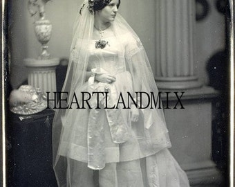 Victorian Bride Vintage Digital Image Download printable art