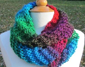 Bold Rainbow Stripes Infinity Cowl Scarf