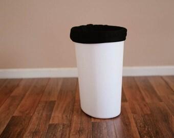 Diaper Pail Liner - Black Reusable Garbage Pail Liner -  Cloth Diaper Pail