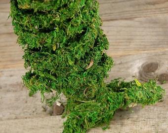 Moss garland vine 60 foot roll-Preserved REAL moss vine