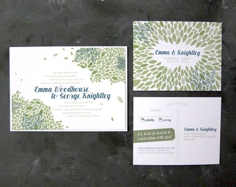 Emma and Knightley- Modern Garden Invitation and RSVP