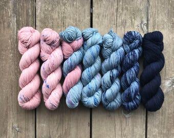 Hand-dyed Yarn Kit - Refuge Faded Kit - Hand-painted Yarn - Merino Wool Yarn - Indie-dyed Yarn