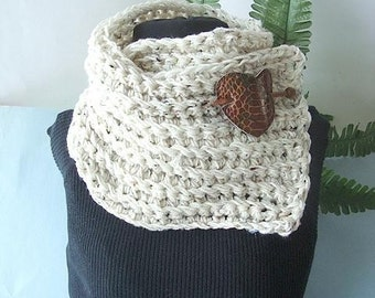 Crochet Pattern, CHUNKY RIDGED COWL num 106 or Scarf for men or women... Crochet For Beginners.  Instant download