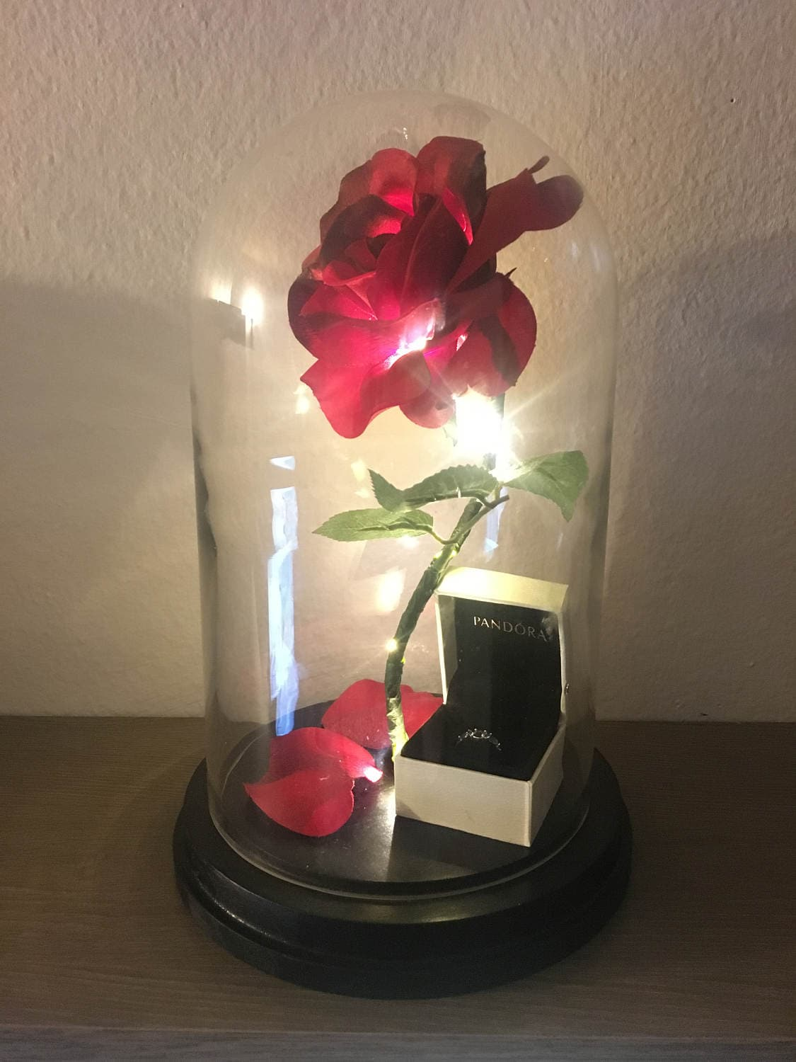 Enchanted rose flower lamp beauty and the beast enchanted zoom floridaeventfo Gallery
