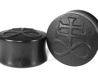 Leviathan Cross Organic Wood Ear Plugs/Gauges/Ear Stretchers size 10mm-40mm