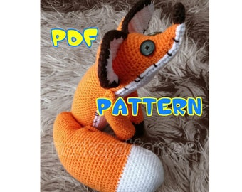 CROCHET-PATTERN: Mr. Fox Plushie Amigurumi inspired by The Little Prince Movie ~ **Instructions Only**
