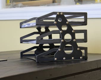 Metal 3 Tier Riveted File Holder