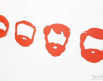 Leprechaun Beard Garland Kit : U-String Facial Hair Bunting | St. Patrick's Day Party Decoration | Whiskers | Irish Photo Prop