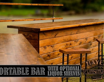 Cedar Portable Outdoor Bar   NEW DIMENSIONS!