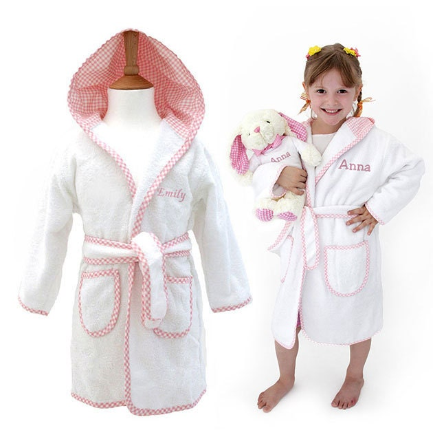 Personalised Children\'s Towelling Dressing Gown with Hood