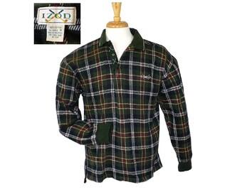 XL Vintage 1960's Izod Men's Polo Golf Shirt, Long Sleeves, X Large
