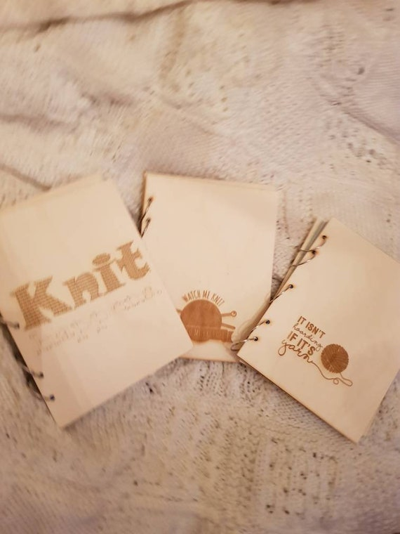 Pattern Folder For Knitting Crochet Patterns Engraved Birch