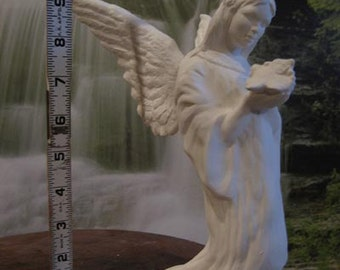 Beautiful, Vintage, Christmas decoration, Angel of Peace, Angel with dove, Christmas Angel, ready to paint, u-paint, ceramic bisque