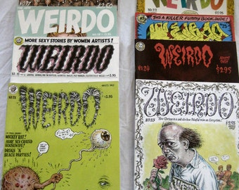 Weirdo Underground Comics, #17-#24, You choose, Adult content, Over age 18, Vintage 1980's, Robert Crumb